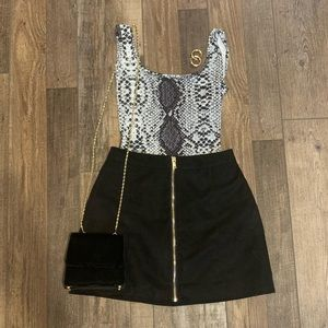 3/$22 H&M faux suede skirt